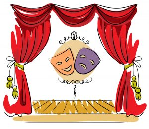 Theater mask stage
