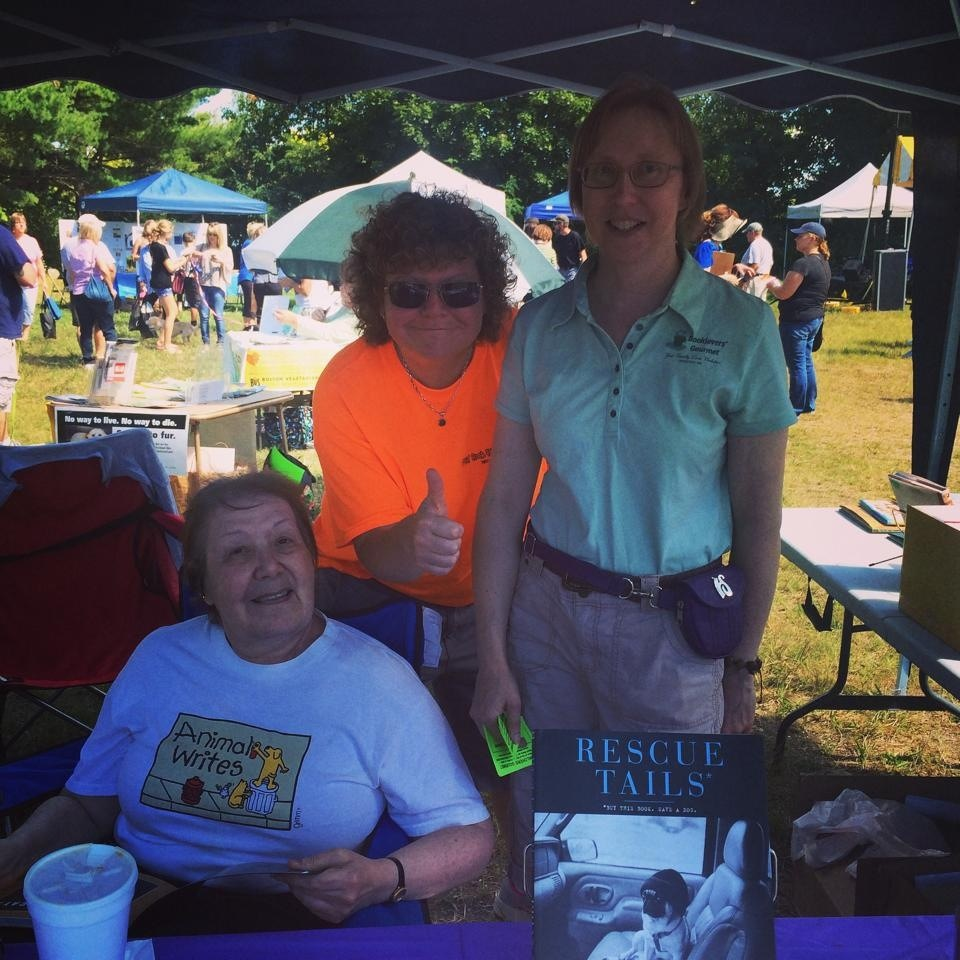 Author Darlene Arden, Charlene & Deb at Pet Rock